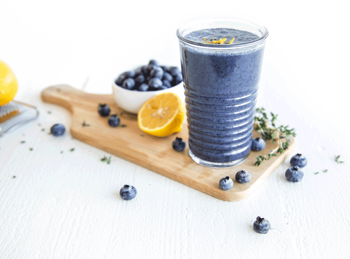 Photo of Blueberry Lemon Thyme Smoothie