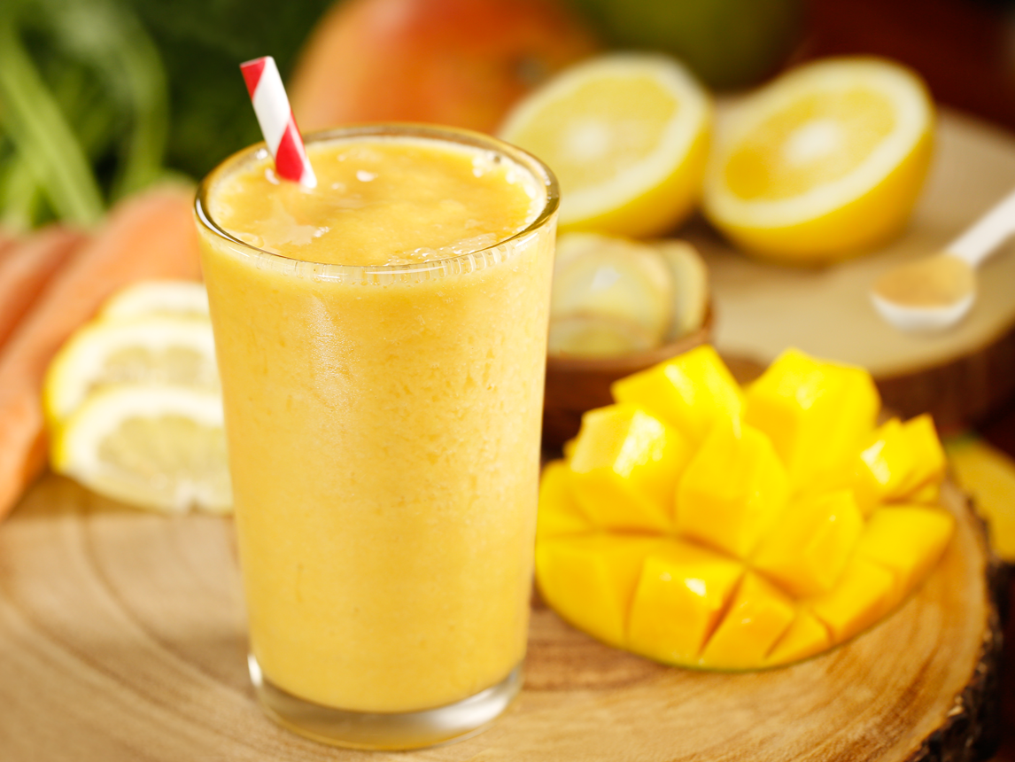 Photo of Ginger Mango Carrot Smoothie