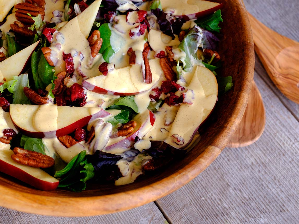 Photo of Fall Salad with Pumpkin Dressing