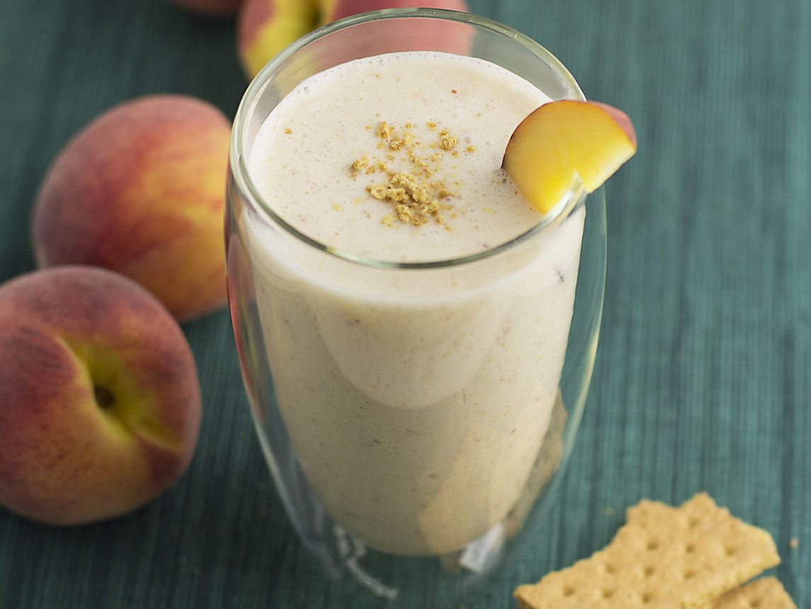 Photo of Peach Cobbler Smoothie