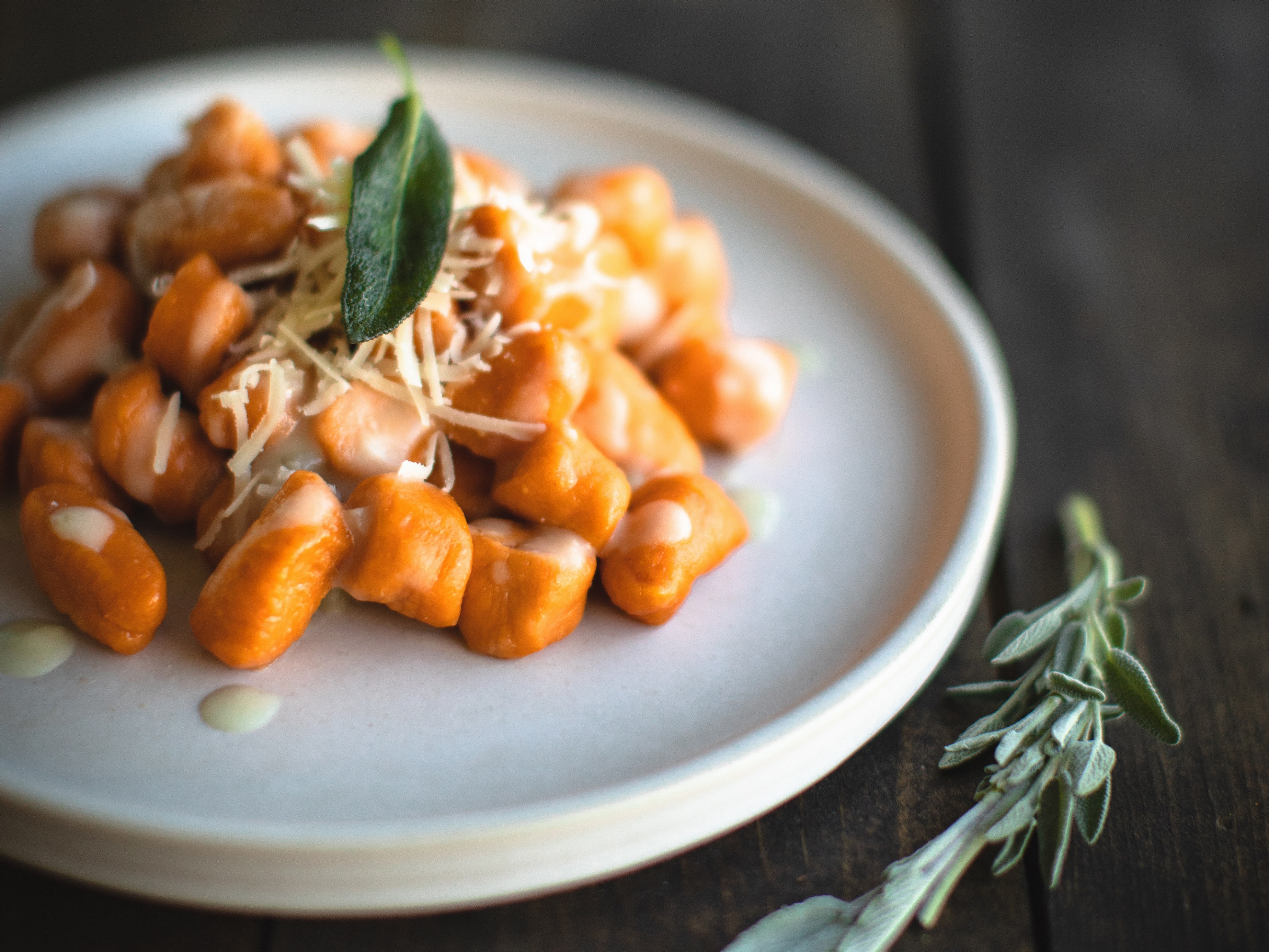 Photo of Sweet Potato Gnocchi with Sage Cream Sauce