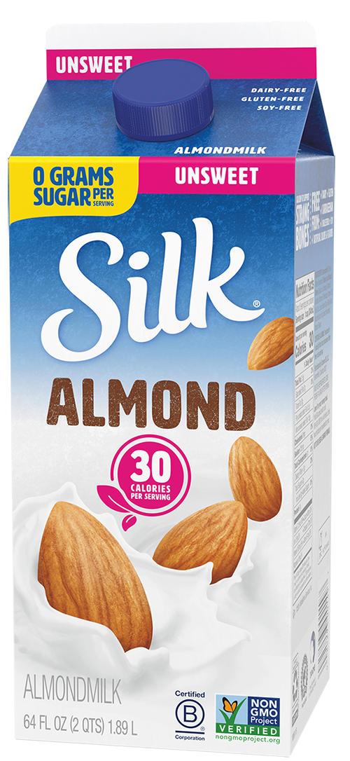 Image of a carton of Silk brand soy