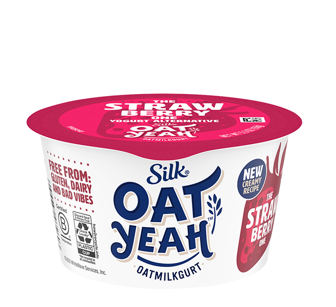 Silk Strawberry Oatmilk Dairy-Free Yogurt Alternative