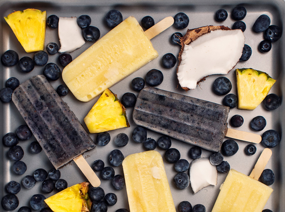 Photo of Pineapple & Blueberry Coconut Pops