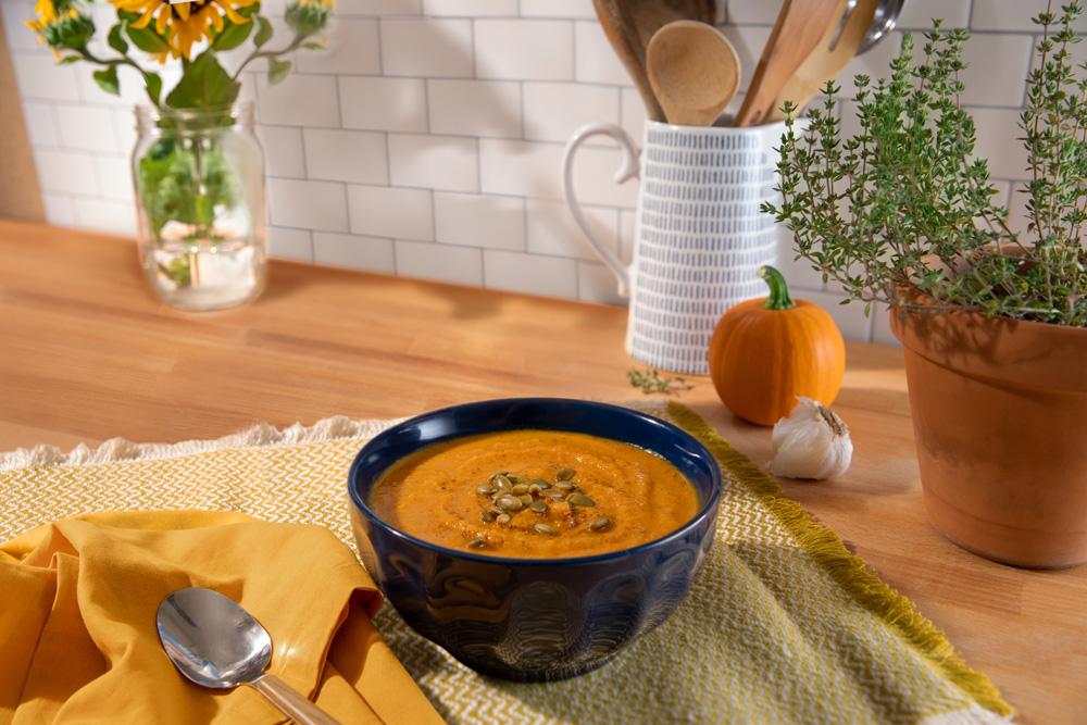 Photo of Roasted Pumpkin and Sweet Potato Soup